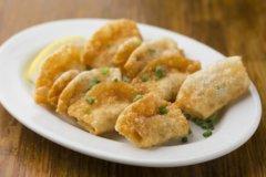 Bite-sized Deep-Fried Gyoza Dumplings