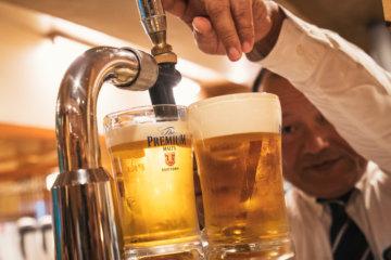 六本木の居酒屋の生ビール